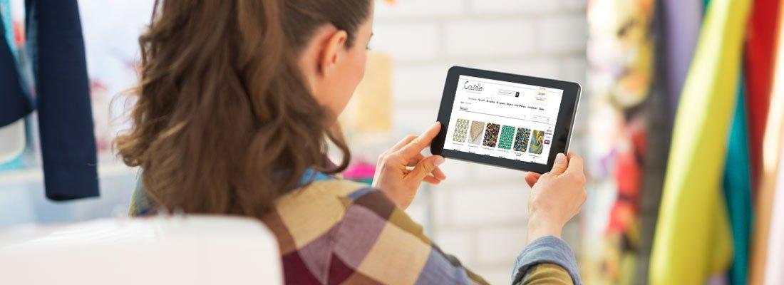 choix de tissus et de prix avantageux en optant pour l'achat en ligne